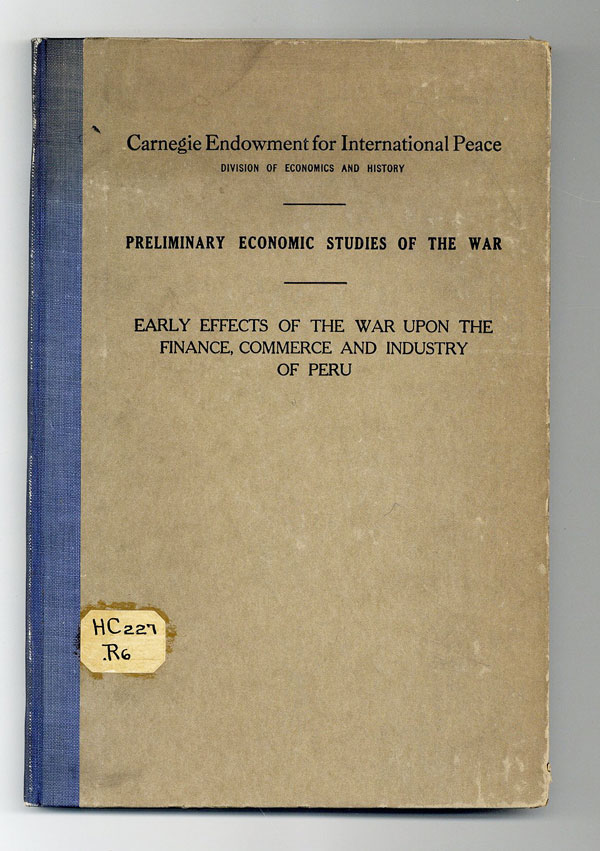 Early effects of the war upon the finance, commerce, and industry of Peru. L. S. Rowe.