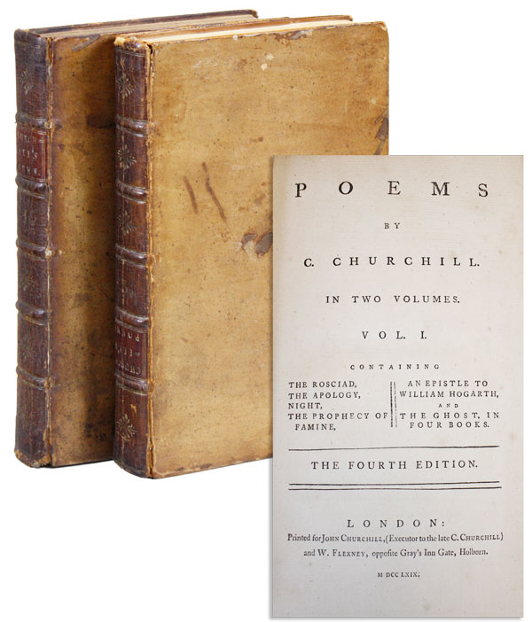 Poems by C. Churchill [Signed by John Churchill]. CHURCHILL, harles.