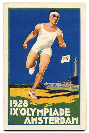 Jeux Olympiques, Amsterdam 1928, 28 Juillet - 12 Août [Cover title: 1928 IXe Olympiade Amsterdam]. OLYMPIC GAMES - AMSTERDAM 1928, Jos ROVERS, cover.
