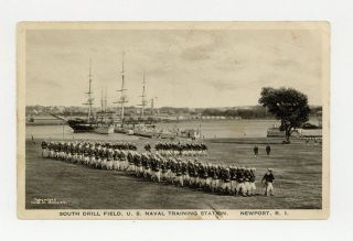 Photographic postard of South Drill Field, U. S. Naval Training Station. Pictorial postcard