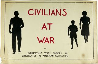 "Three Original Pieces of Art for the Unpublished Work ""Civilians At War"" CONNECTICUT STATE..."